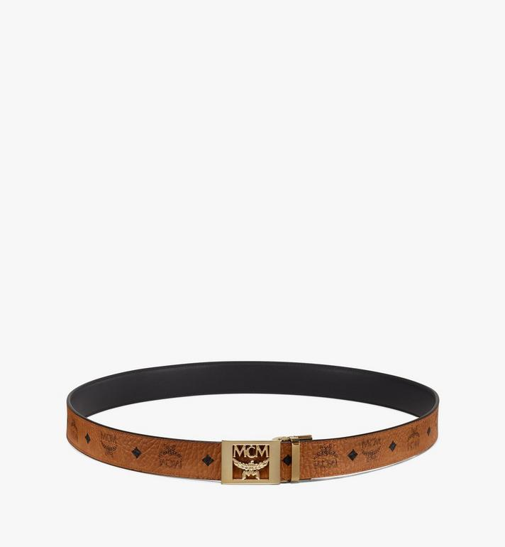 MCM MCM Collection Reversible Belt in Visetos Cognac MYB9AMM36CO001 Alternate View 3
