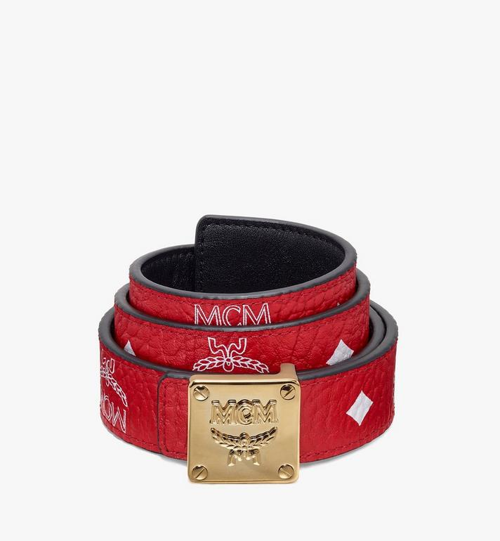 MCM Logo Plate Belt Alternate View