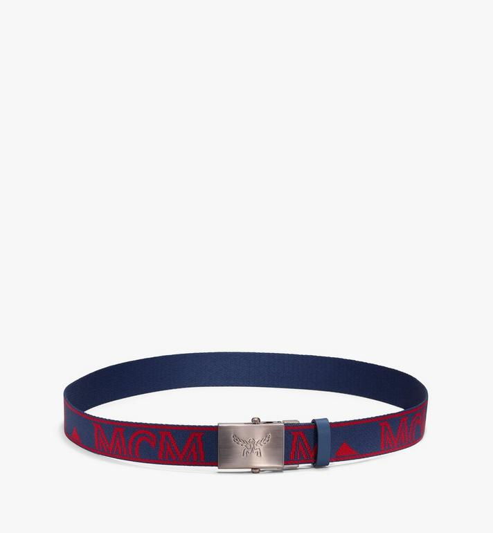 MCM Logo Webbing Belt Blue MYB9AMM49VS001 Alternate View 2