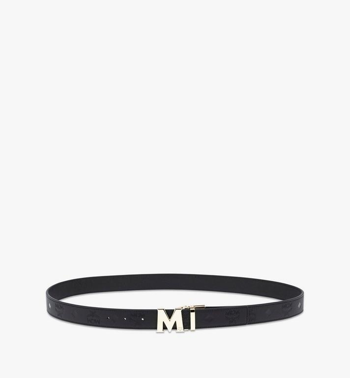 MCM Claus M Reversible Belt in Monogram Leather  MYB9AVC13BK001 Alternate View 2