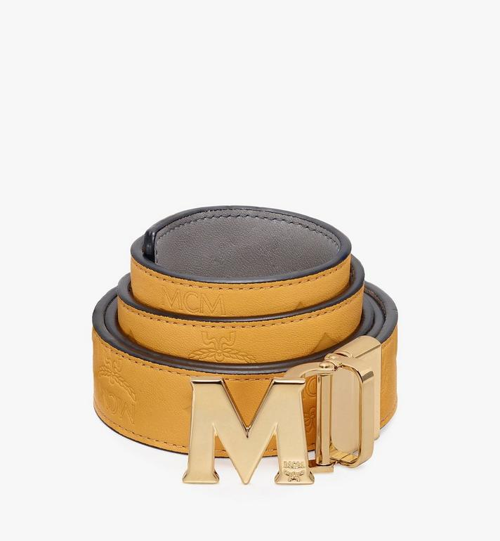 MCM Claus Flat M Reversible Belt in Visetos Alternate View 1