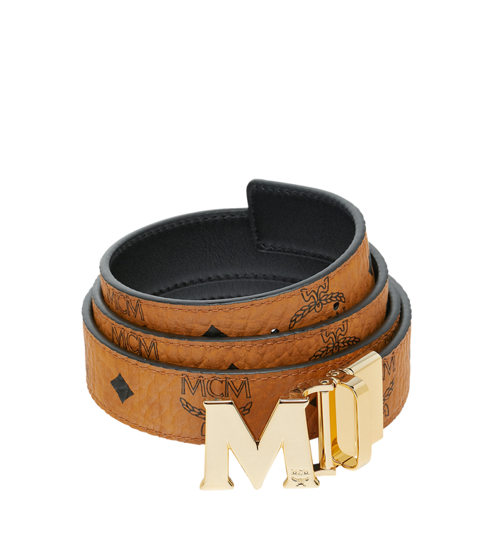 MCM Visetos皮革Claus M 1.2 吋可翻轉使用皮帶 Alternate View