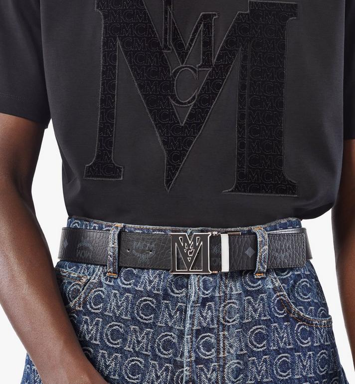 "MCM Mena Epoxy M Reversible Belt 1.5"" in Visetos Black MYBAALM01BK001 Alternate View 5"