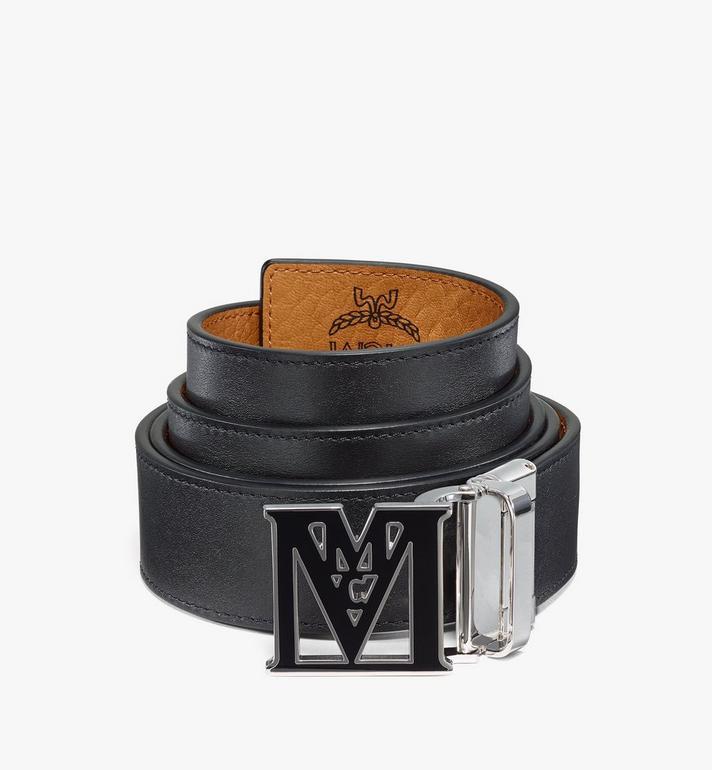 "MCM Mena Epoxy M Reversible Belt 1.5"" in Visetos Cognac MYBAALM01CO001 Alternate View 2"