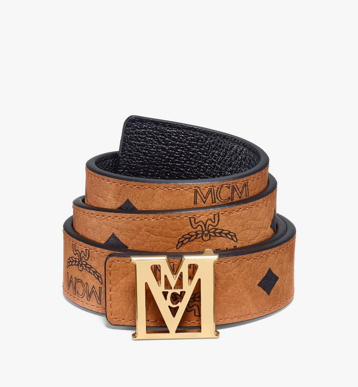 "MCM Mena M Reversible Belt 1"" in Visetos Alternate View"