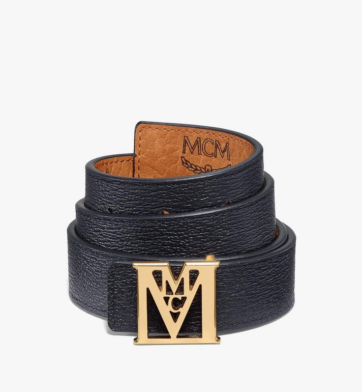 "MCM Mena M Reversible Belt 1"" in Visetos Cognac MYBAALM05CO100 Alternate View 4"
