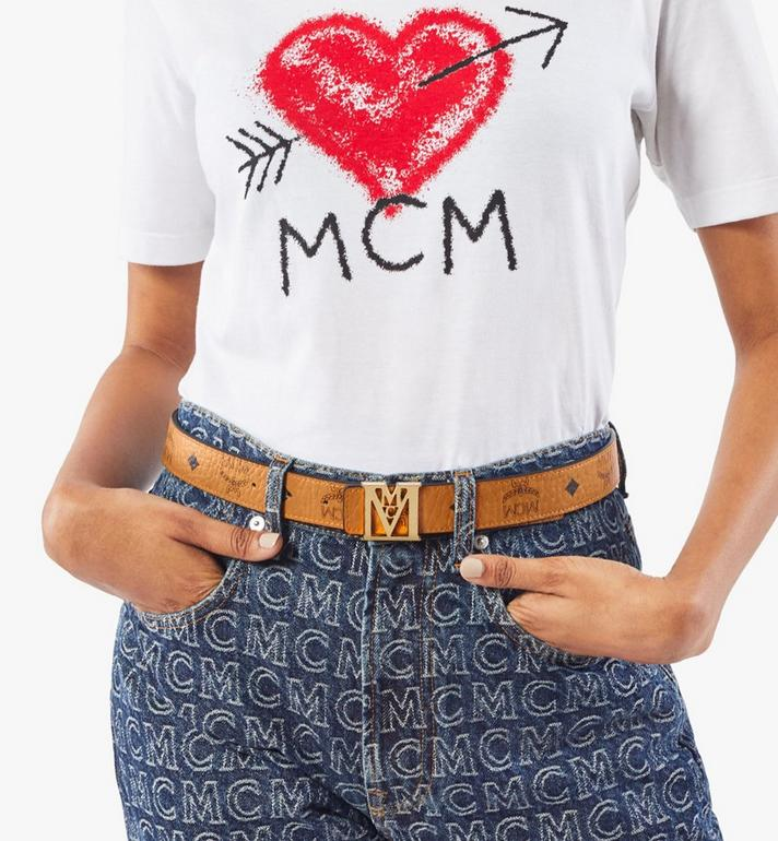 "MCM Mena M Reversible Belt 1"" in Visetos Cognac MYBAALM05CO100 Alternate View 6"