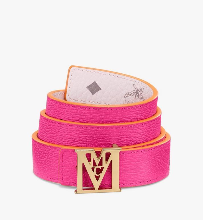 "MCM Mena M Reversible Belt 1"" in Visetos Pink MYBAALM08QH100 Alternate View 2"