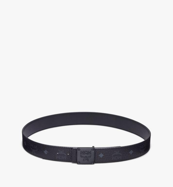 "MCM MCM Collection Reversible Belt 1.5"" in Visetos Black MYBASMM03BK001 Alternate View 3"