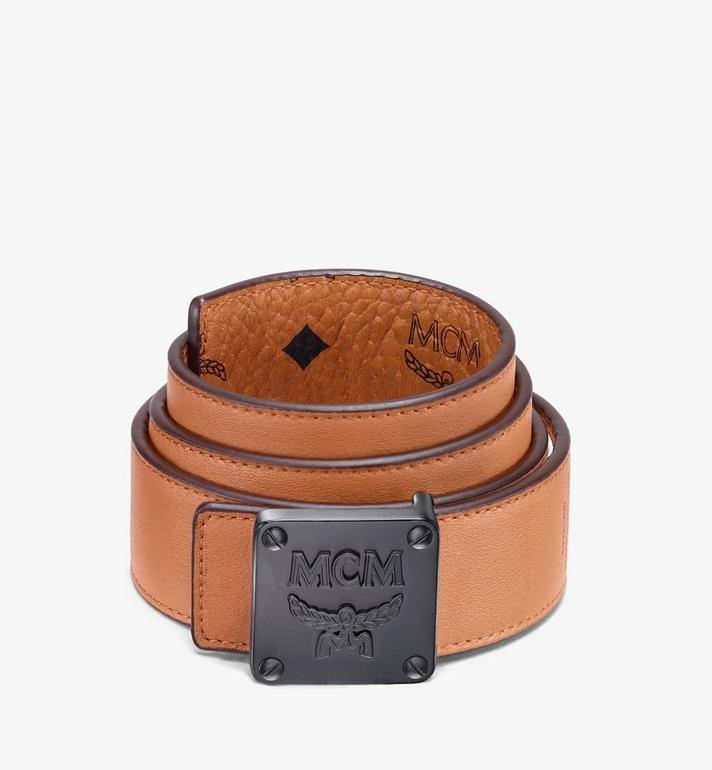"MCM MCM Collection Reversible Belt 1.5"" in Visetos Cognac MYBASMM03CO001 Alternate View 2"