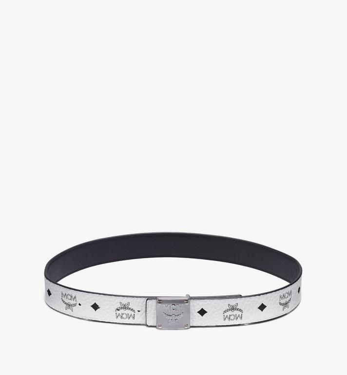"MCM MCM Collection Reversible Belt 1.5"" in Visetos White MYBASMM09WT001 Alternate View 3"