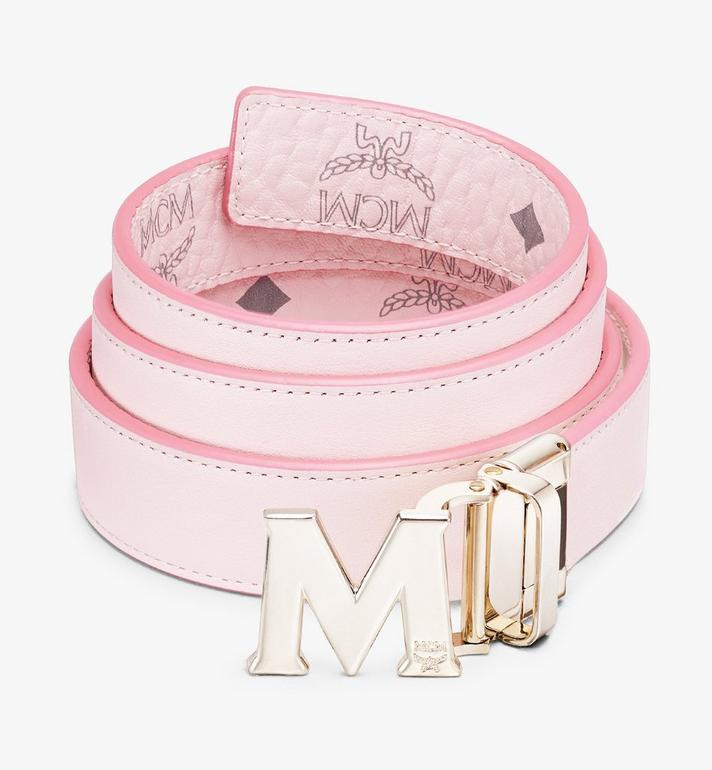 "MCM Claus M Reversible Belt 1"" in Visetos Pink MYBASVI11QH001 Alternate View 2"
