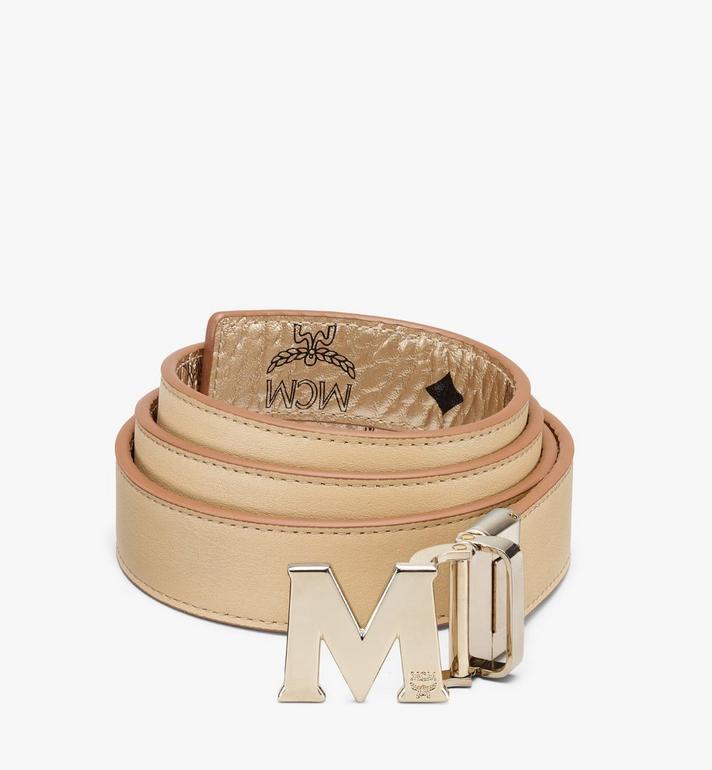 "MCM Claus M Reversible Belt 1"" in Visetos Gold MYBASVI11T1001 Alternate View 2"