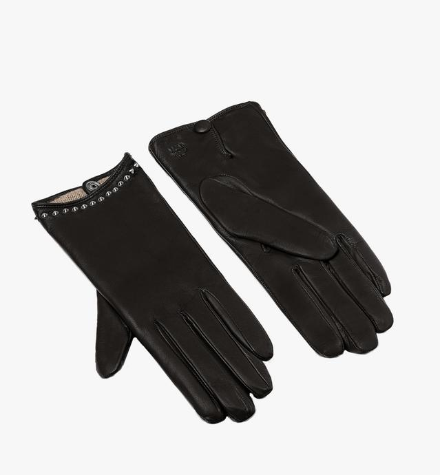 Women's Studded Gloves in Leather