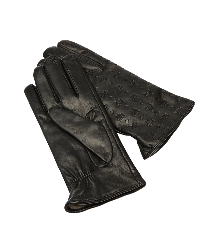 MCM Men's Monogram Leather Gloves Alternate View 3