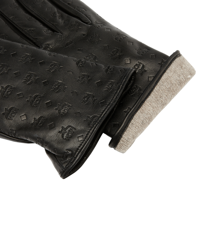 MCM Men's Monogram Leather Gloves Alternate View 4