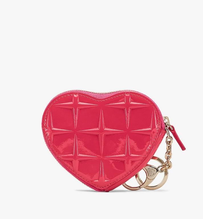MCM Heart Coin Pouch Charm in Diamond Patent Leather  MYIASDQ01QE001 Alternate View 2