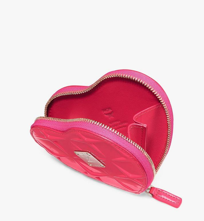 MCM Heart Coin Pouch Charm in Diamond Patent Leather  MYIASDQ01QE001 Alternate View 3