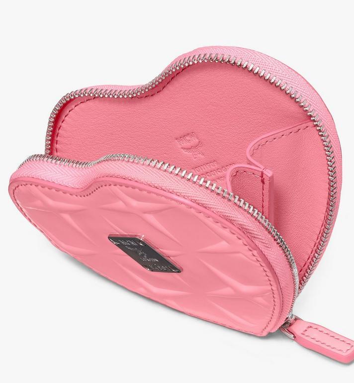 MCM 鑽石漆皮心形零錢包吊飾 Pink MYIASDQ01QG001 Alternate View 3