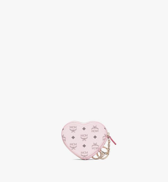 MCM Visetos 系列的心形零錢包吊飾 Pink MYIASVI01QH001 Alternate View 2