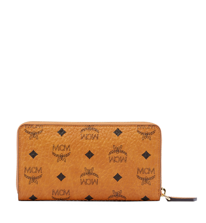 MCM Heritage Zip Around Wallet in Visetos Cognac MYL6AVI67CO001 Alternate View 3