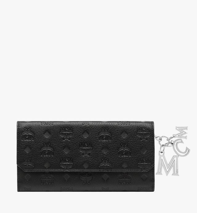 Two Fold Flap Wallet in Monogram Leather Charm