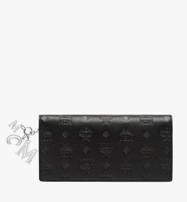 클라라 모노그램드 레더 참 장지갑