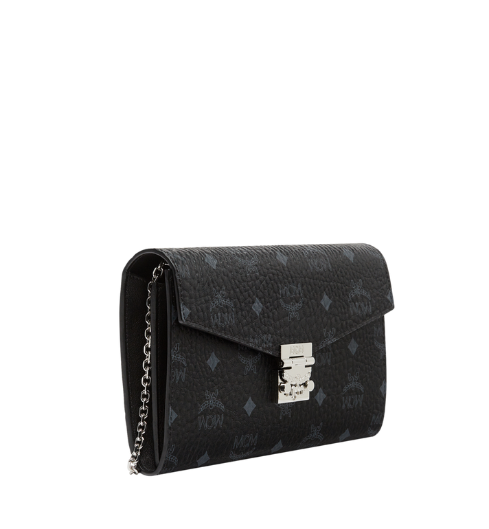 MCM Patricia Continental Crossbody Wallet in Visetos Black MYL8APA17BK001 Alternate View 2