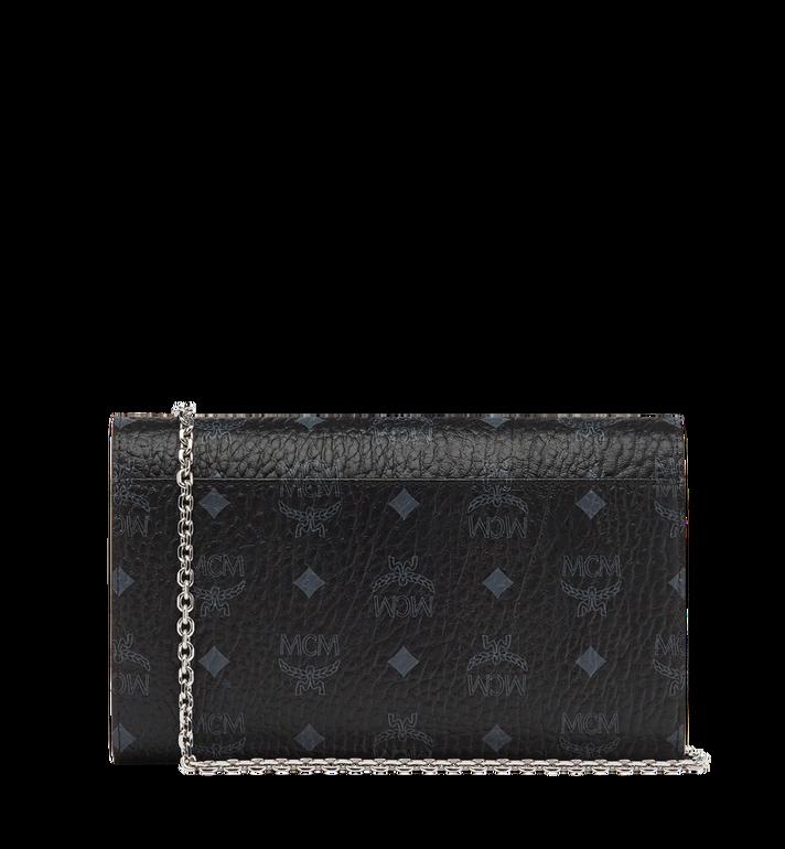 MCM Patricia Continental Crossbody Wallet in Visetos Black MYL8APA17BK001 Alternate View 4