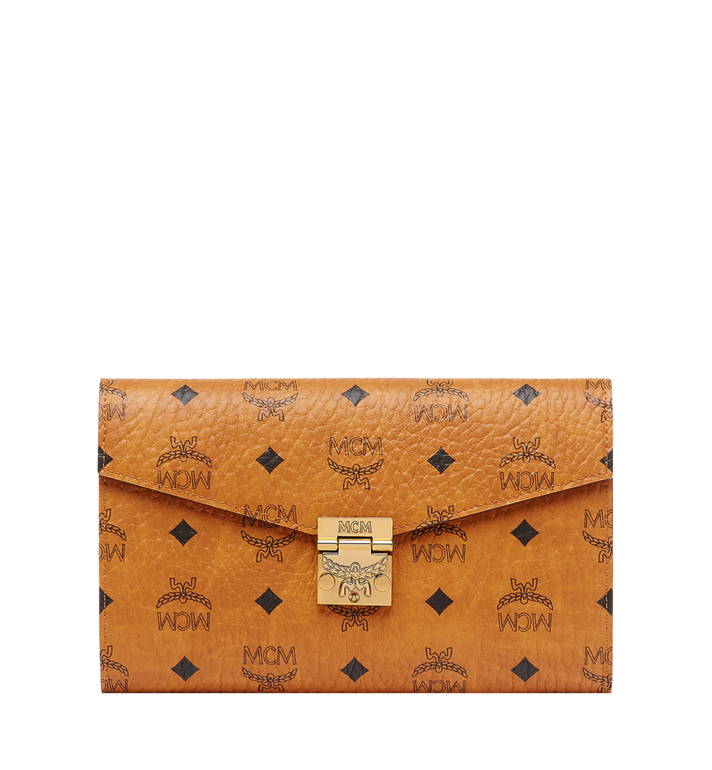 MCM Patricia Visetos Continental 斜背皮夾 Cognac MYL8APA17CO001 Alternate View 1