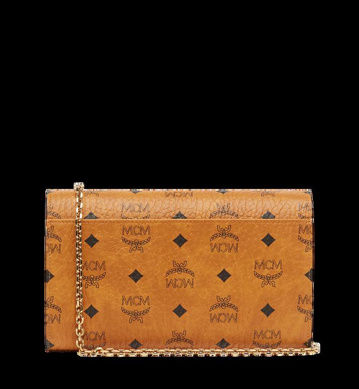 MCM Patricia Continental Crossbody Wallet in Visetos Cognac MYL8APA17CO001 Alternate View 4