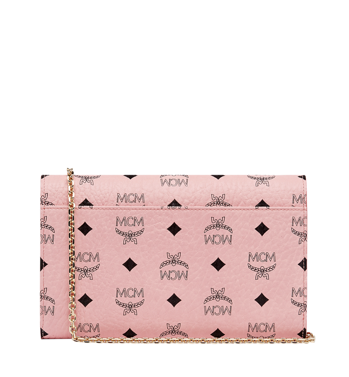 MCM Patricia Continental Crossbody Wallet in Visetos Pink MYL8APA17PZ001 Alternate View 4