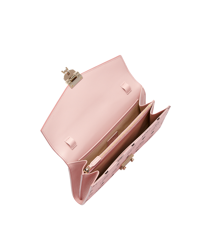 MCM Patricia Continental Crossbody Wallet in Visetos Pink MYL8APA17PZ001 Alternate View 5