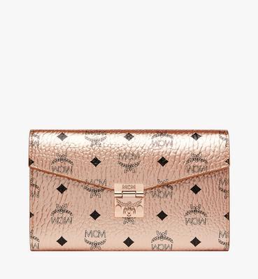 Patricia Continental Crossbody Wallet in Visetos