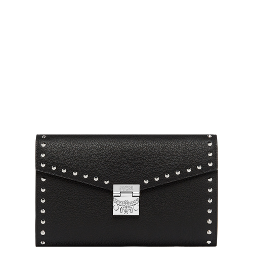Patricia Continental Wallet in Studded Outline Leather