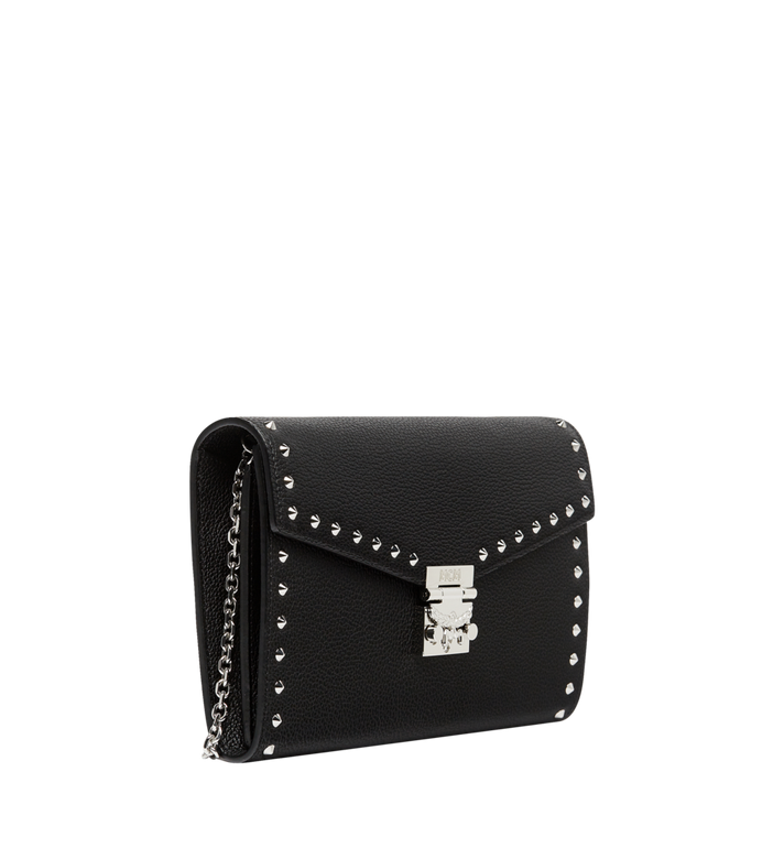 MCM Patricia Continental Wallet in Studded Outline Leather Black MYL8APA19BK001 Alternate View 2
