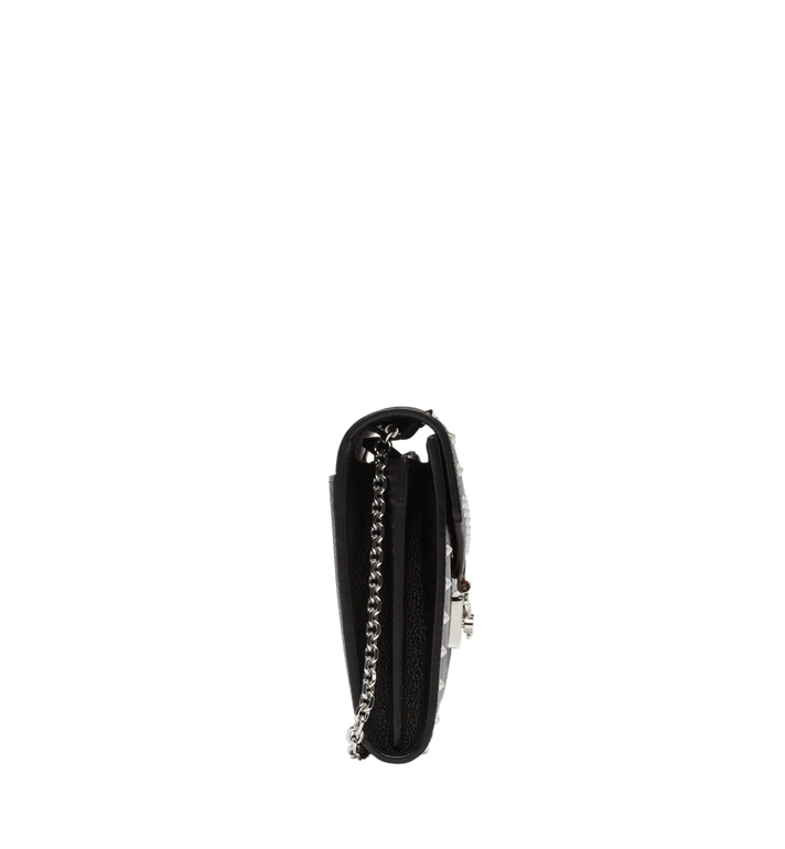 MCM Patricia Continental Wallet in Studded Outline Leather Black MYL8APA19BK001 Alternate View 3