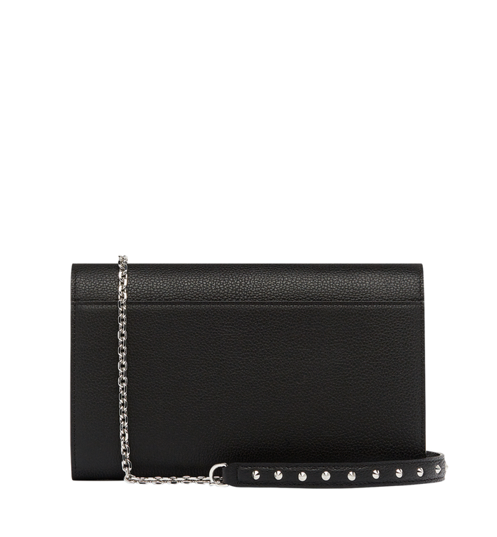 MCM Patricia Continental Wallet in Studded Outline Leather Black MYL8APA19BK001 Alternate View 4