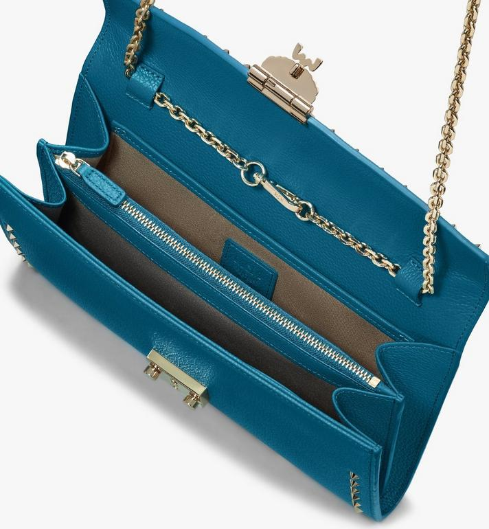 MCM Patricia Crossbody Wallet in Studded Park Ave Leather Blue MYL8APA19JF001 Alternate View 3