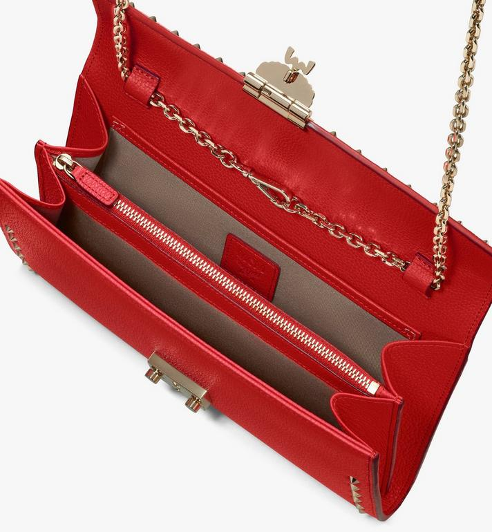 MCM Patricia Crossbody Wallet in Studded Park Ave Leather Red MYL8APA19R4001 Alternate View 3