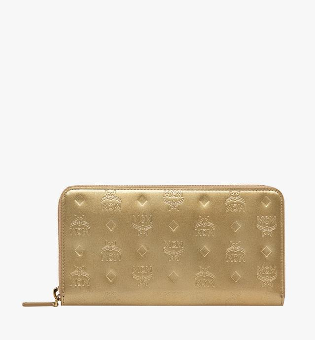 Zip Around Wallet in Monogram Patent Leather
