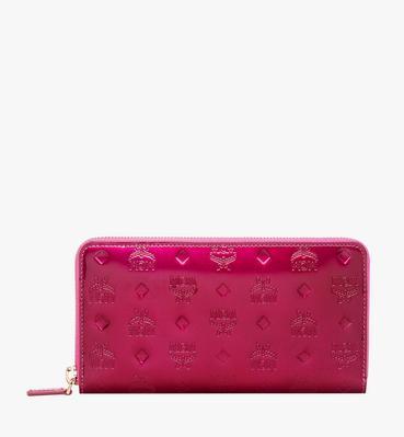 Zip Around Wallet in Monogram Patent Leather