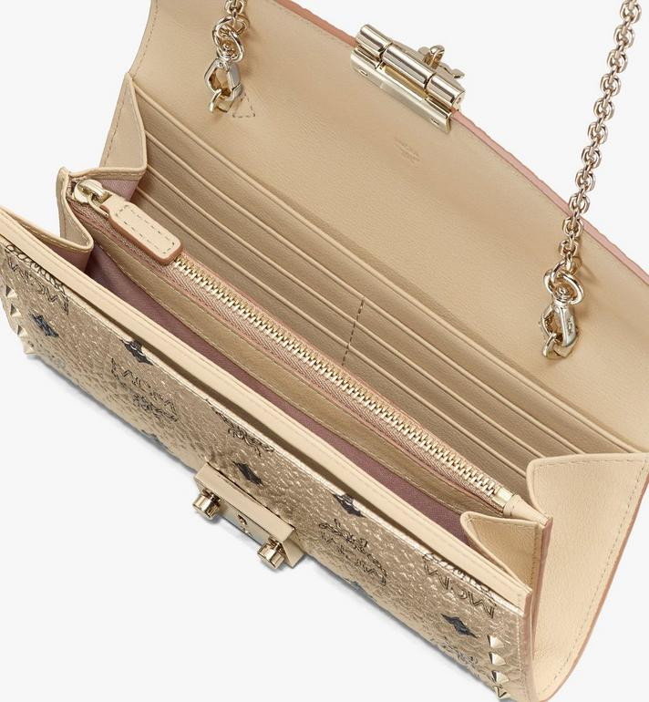 MCM Patricia Crossbody Wallet in Studded Visetos Gold MYL8APA30T1001 Alternate View 3