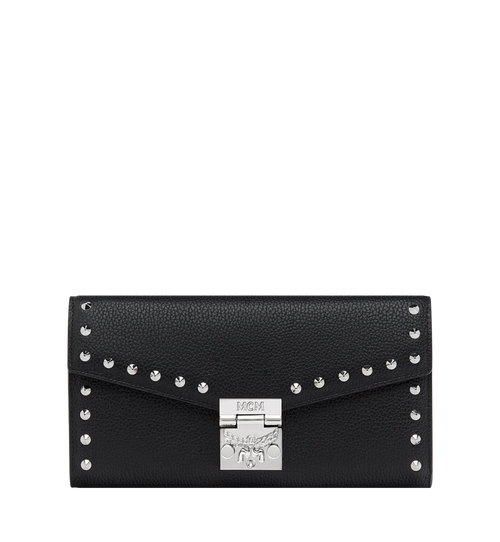Patricia Crossbody Wallet in Studded Outline Leather