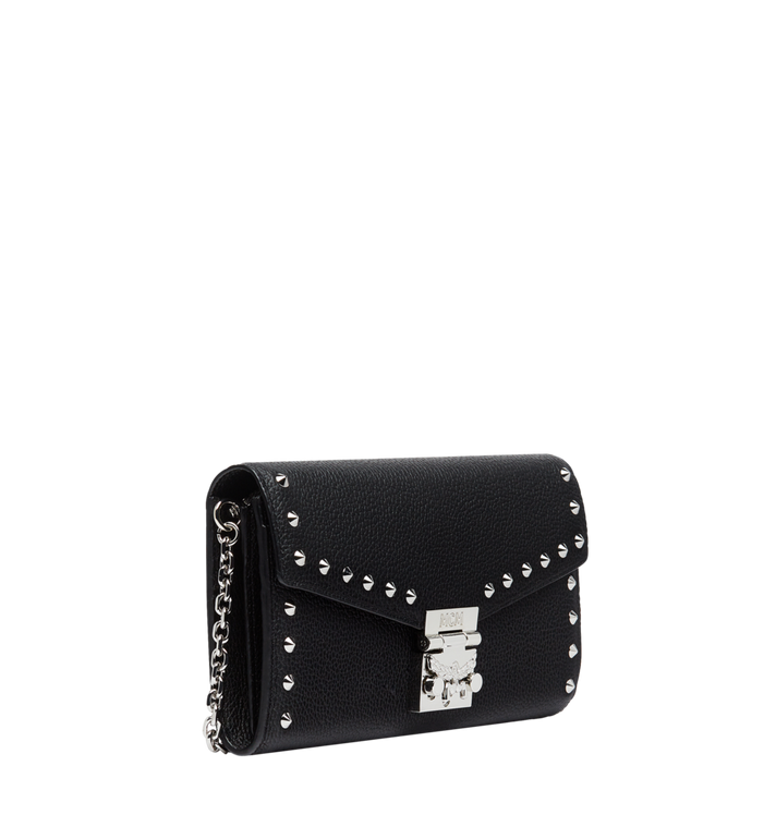 MCM Patricia Crossbody Wallet in Studded Outline Leather Black MYL8APA40BK001 Alternate View 2