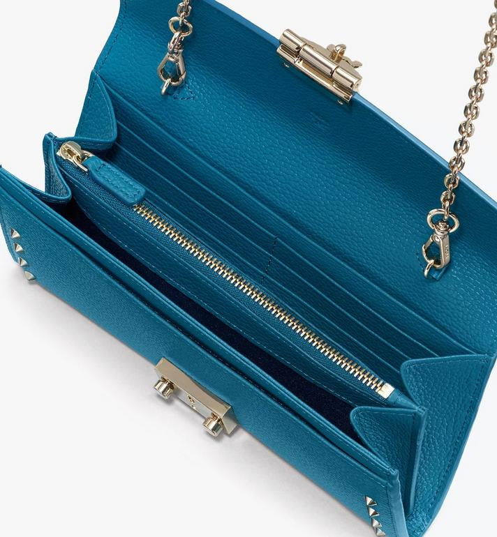 MCM Patricia Crossbody Wallet in Studded Park Ave Leather Blue MYL8APA40JF001 Alternate View 3