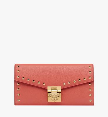 Patricia Crossbody Wallet in Studded Outline Leath