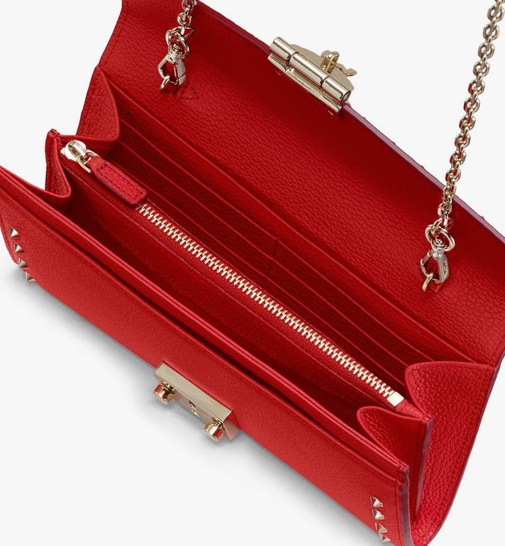 MCM Patricia Crossbody Wallet in Studded Park Ave Leather Red MYL8APA40R4001 Alternate View 3
