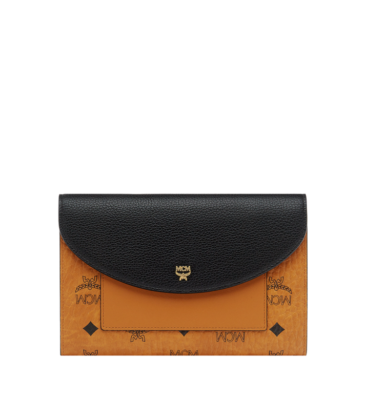 MCM Flap Wallet with Pouch in Visetos Leather Block Alternate View