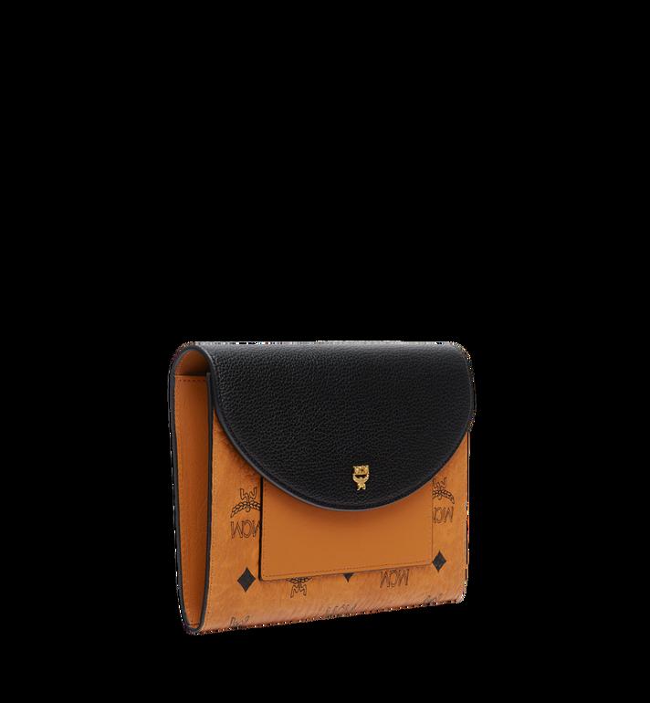MCM Flap Wallet with Pouch in Visetos Leather Block Black MYL8AVI14BK001 Alternate View 2